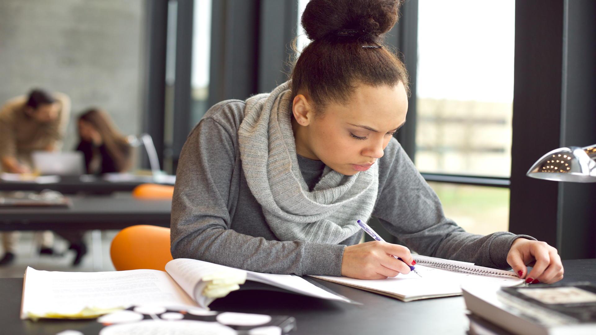 סטודנטית מכינה עבודה אקדמית